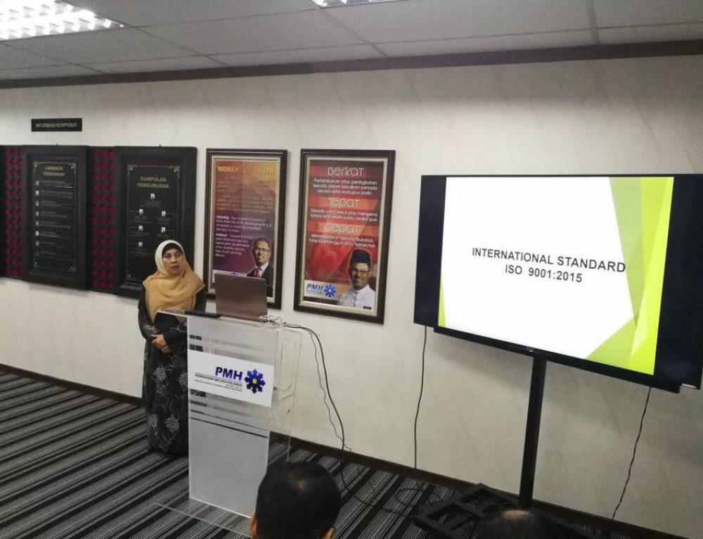 TAKLIMAT & BENGKEL PEMANTAPAN KEFAMAHAN KLAUSA STANDARD MS ISO 9001:2015 (22/03/18-23/03/2018)